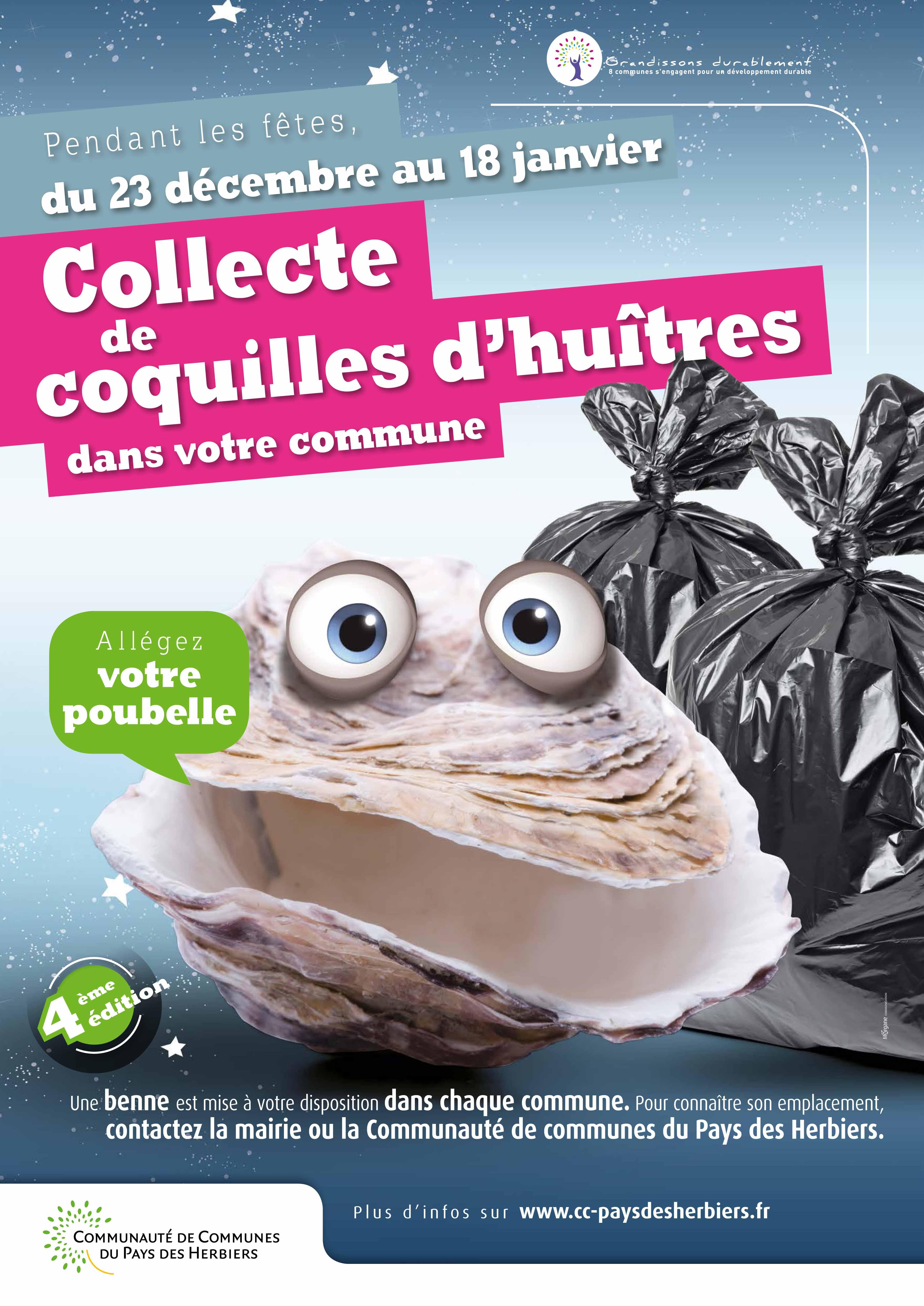 affiche collecte huîtres 2015